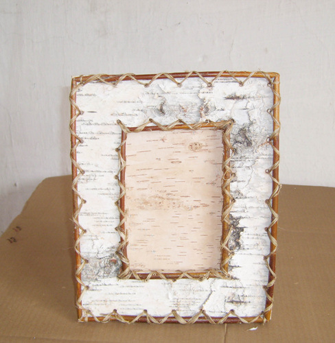 China Birch Bark Frame - China birch bark, frame