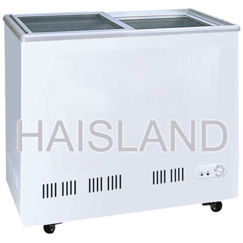 China Plain Glass Door Freezer Refrigerator Series Sdc 188sdc 270