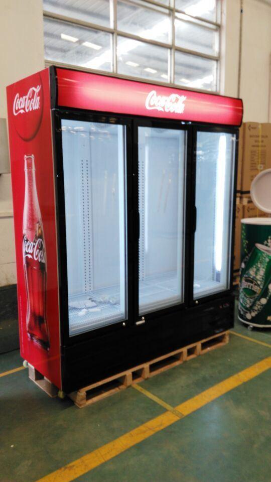 China 3 Door Transparent Glass Door Commercial Refrigerator Photos