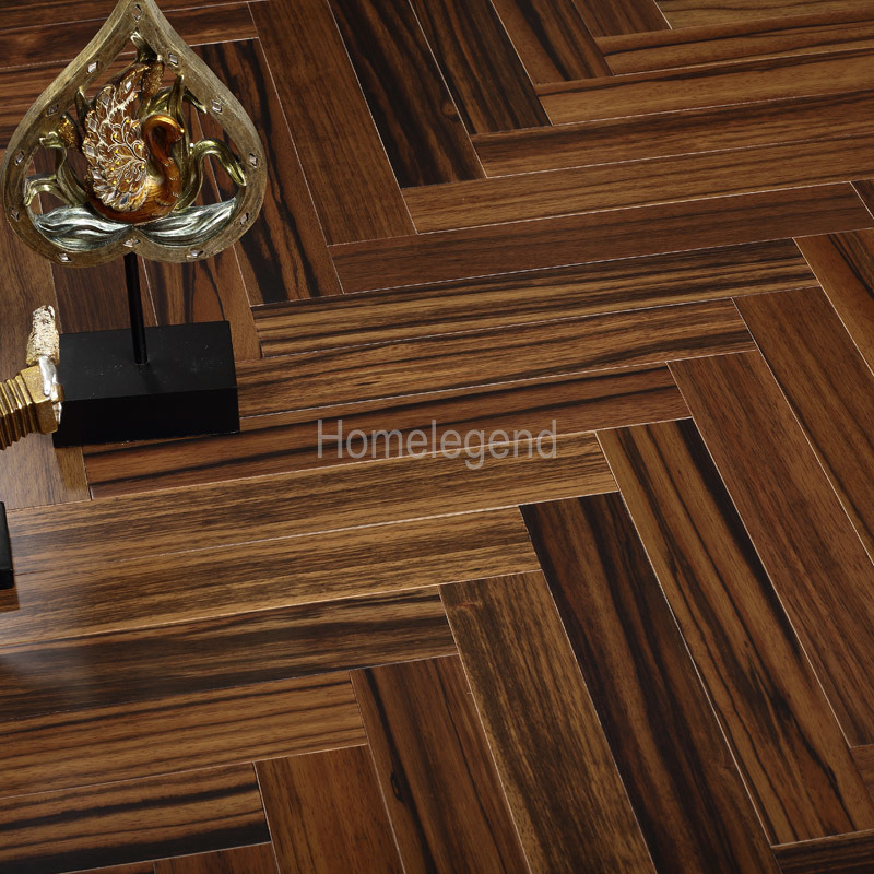 China Brown Color Ebony Herringbone Parquet Wood Flooringengineered
