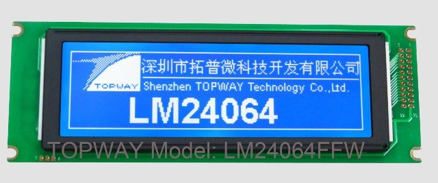 240X64 Graphic LCD Module COB Type LCD Display (LM24064F)