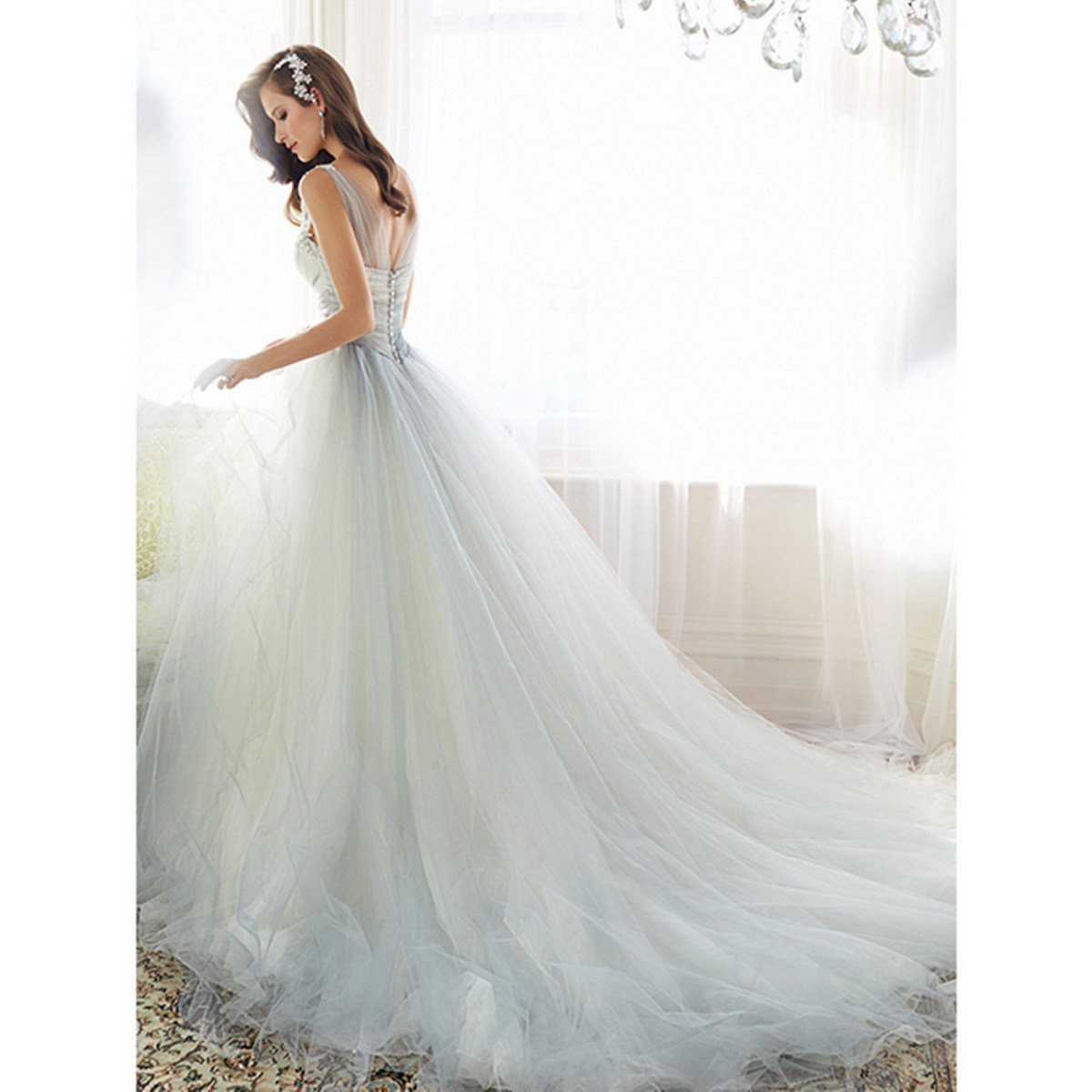 2017 Collection A-Line Tulle Wedding Dress Bridal Gown Dress (Dream-100005) pictures & photos