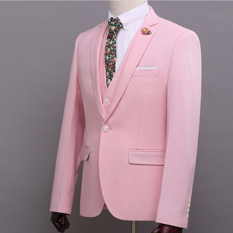Fashion Mens Business Suit Blazer with Notch Lapel Custom