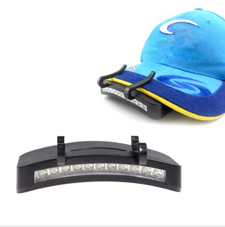 11 LED Clip-on Lamp Cycling Hiking Camping Cap Light Night Outdoor Caplights