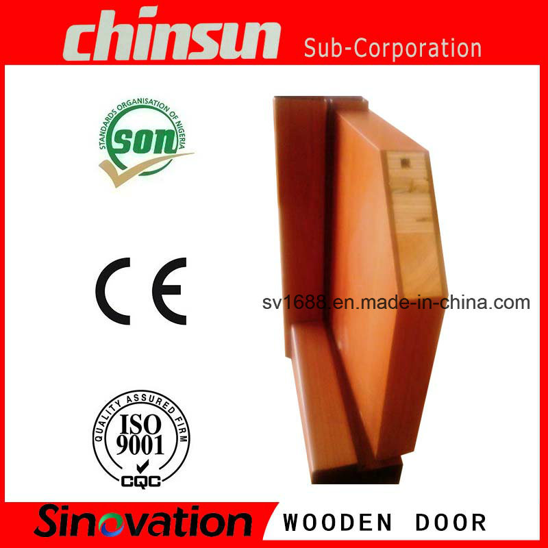 Cheap Bedroom Wooden Door with PVC