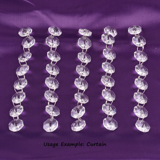 Crystal Glass Octagonal Bead 14mm for Chandelier Decoration