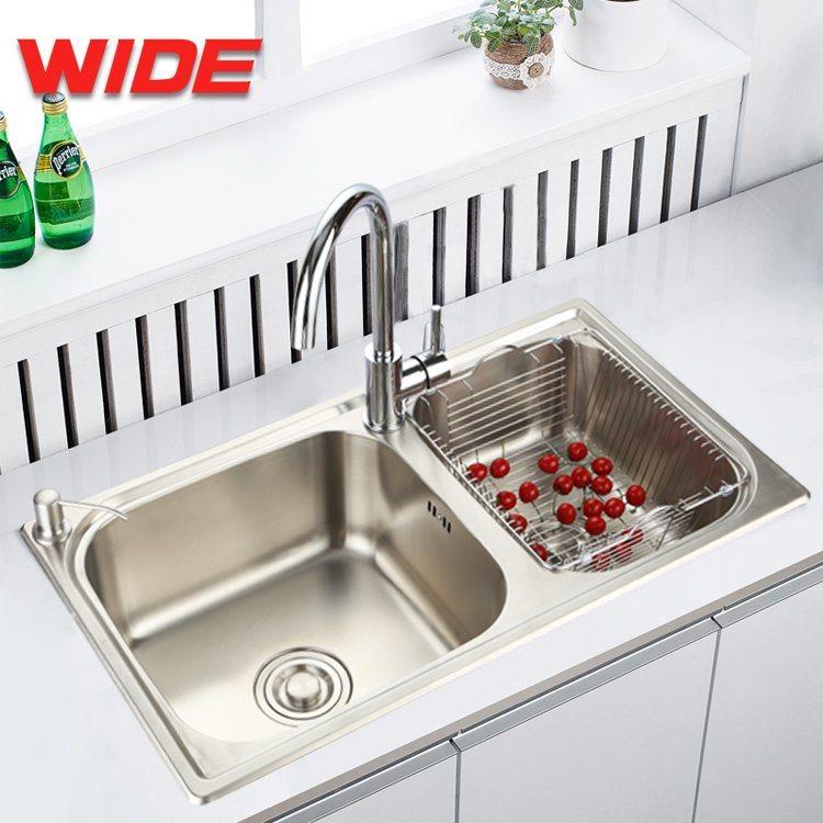 [Hot Item] Undermount Double Bowl Stainless Steel Sink, Kitchen Sink, Wash  Basin