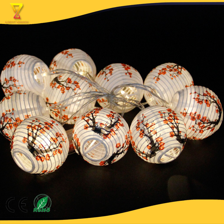 Mini Chinese Anese Paper Lanterns Lamp Led String Lights Battery
