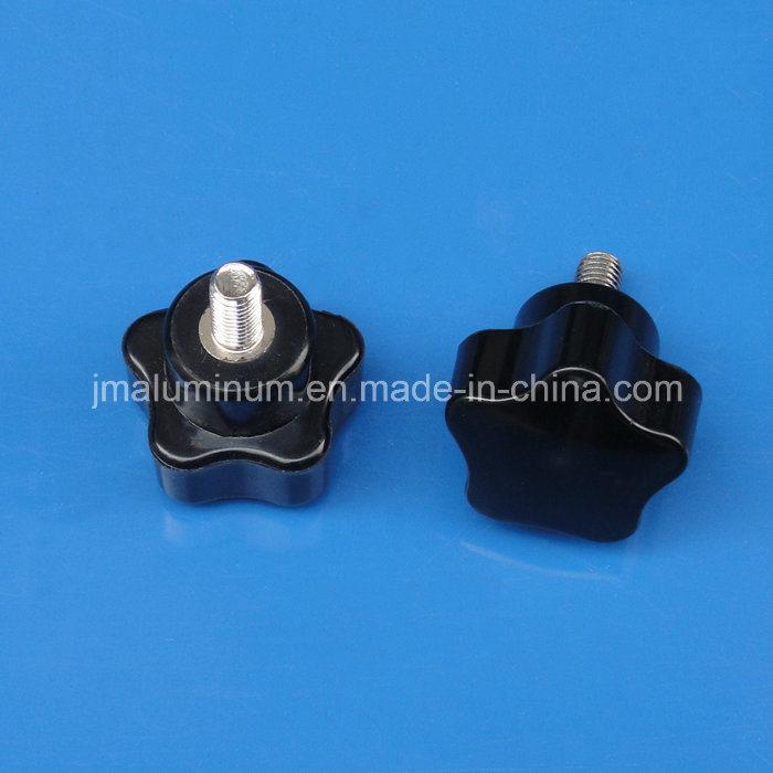 M10 x 50mm Thread Black Bakelite Star Head Metal Grip Clamping Knob