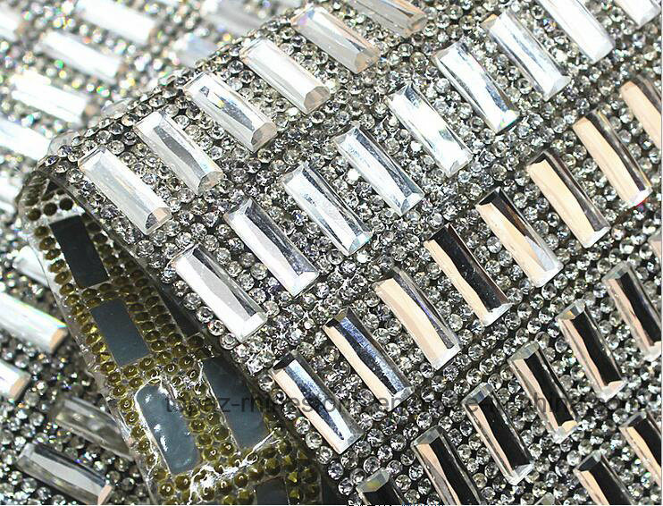 Hotfix Adhesive Crystal Rhinestone Sheet, Glass Rhinestone Mesh (TP001 ss8) pictures & photos