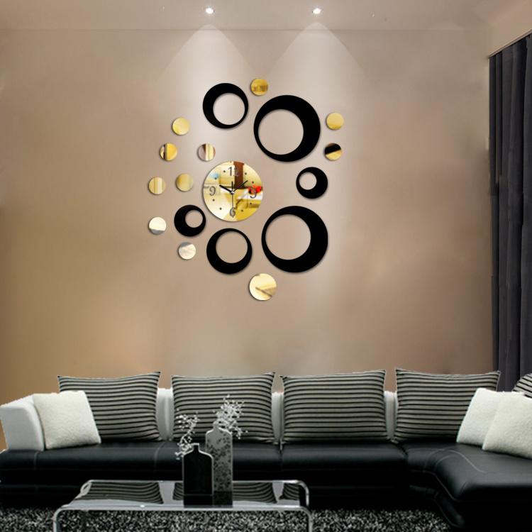 China Wall Clock Acrylic Decorative Mirror Clocks