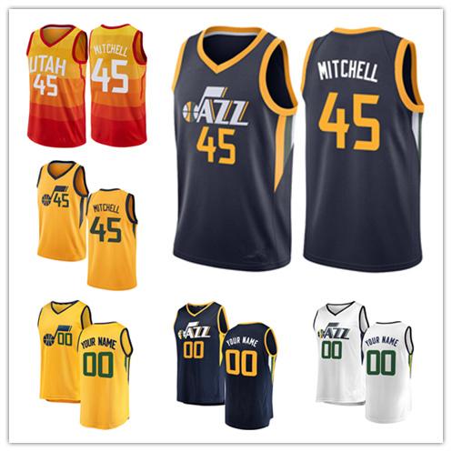 detailed pictures 7990c cccd4 [Hot Item] Men Women Youth Jazz Jerseys 45 Donovan Mitchell Basketball  Jerseys