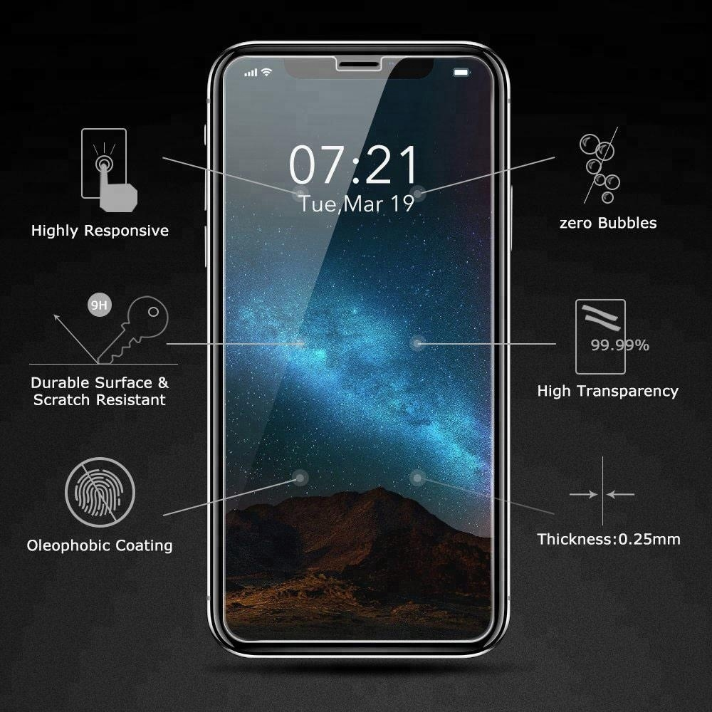 China 3d Tempered Glass Screen Protector For Iphone X 8 7 7plus Premium Samsung Note Case Friendly Good Touchscreen Clear Bening High Quality Protective Film