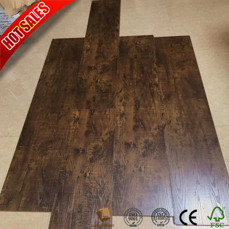 China Canadian Elm Laminate Flooring 8mm 10mm Hardwood Building Material