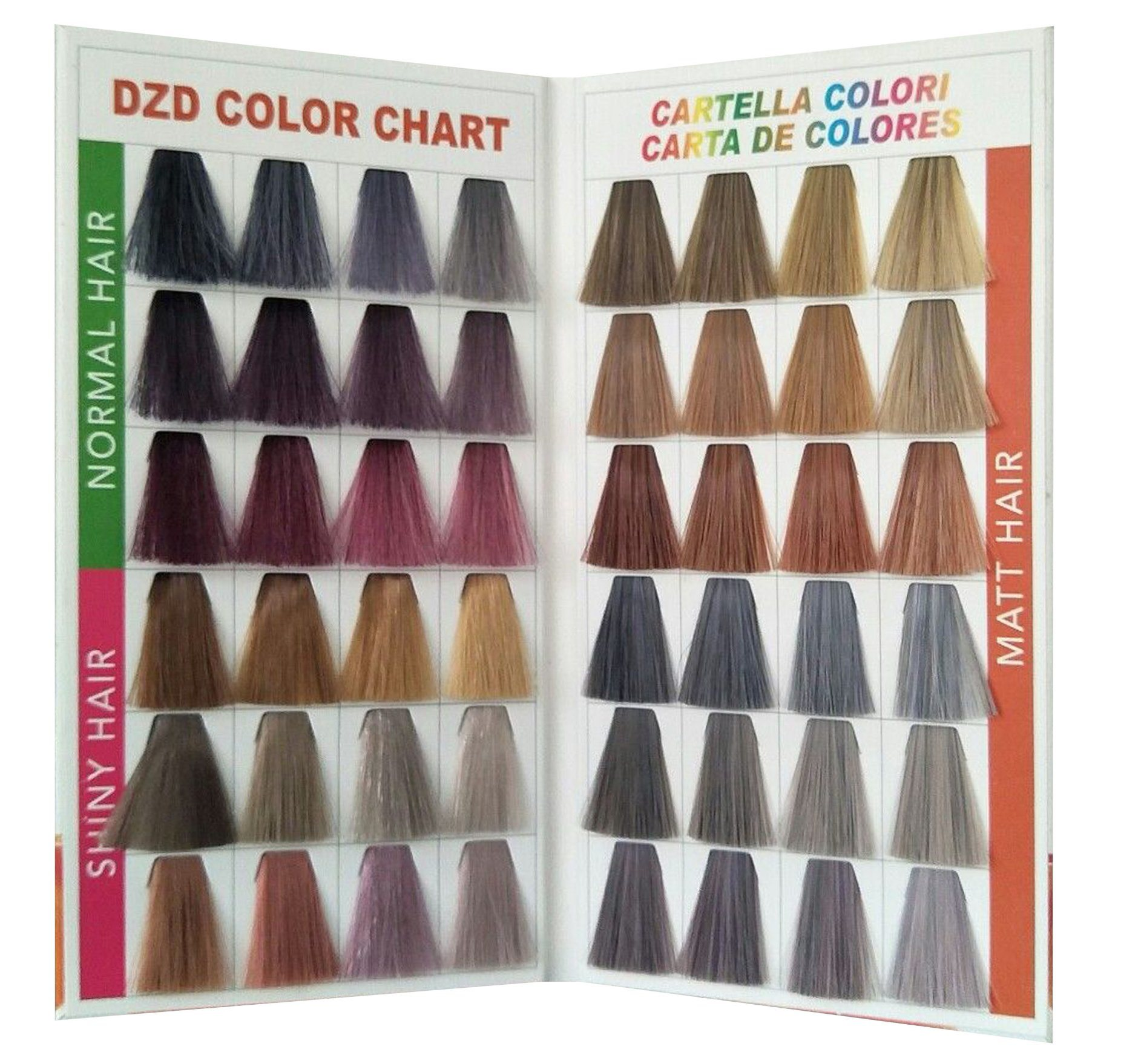 China Color Swatch Book with Shining Synthetic Hair - China ...