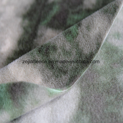 Camouflage Print Polar Fleece with Anitpilling