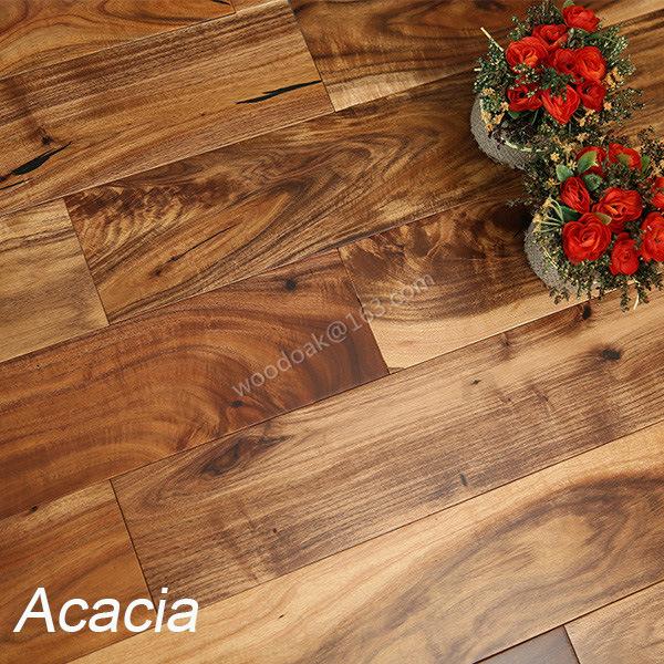 China Hardwood Flooring Solid Small Leaf Acacia Wood