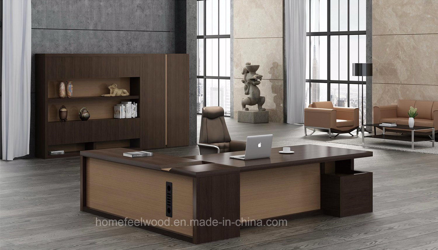 wooden office. Modern Appearance Wooden Boss Type Executive Office Table (HF-JL40601) W