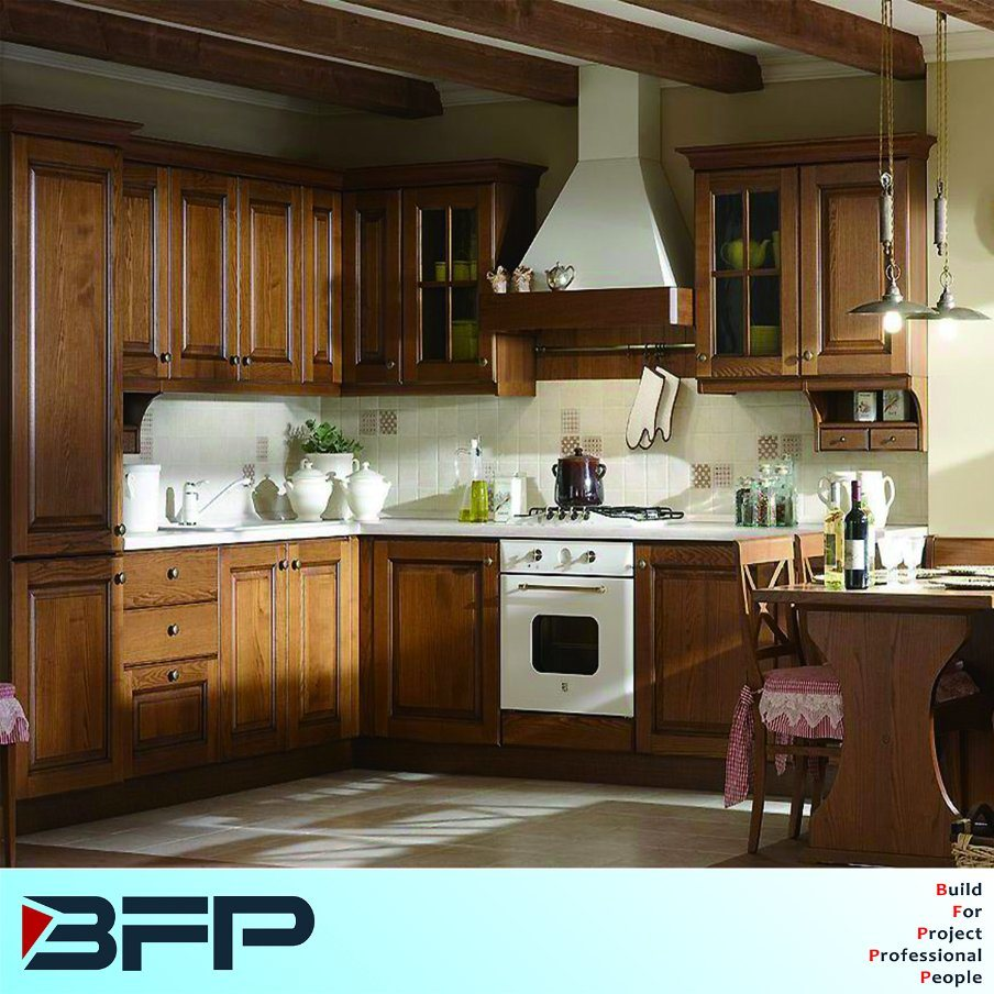 Hot Item High End Custom Made Solid Wood Kitchen Cabinets Bwk 40