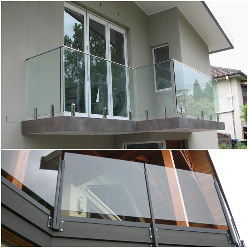 China 12mm Transparent Tempered Glass Balcony Railing ...