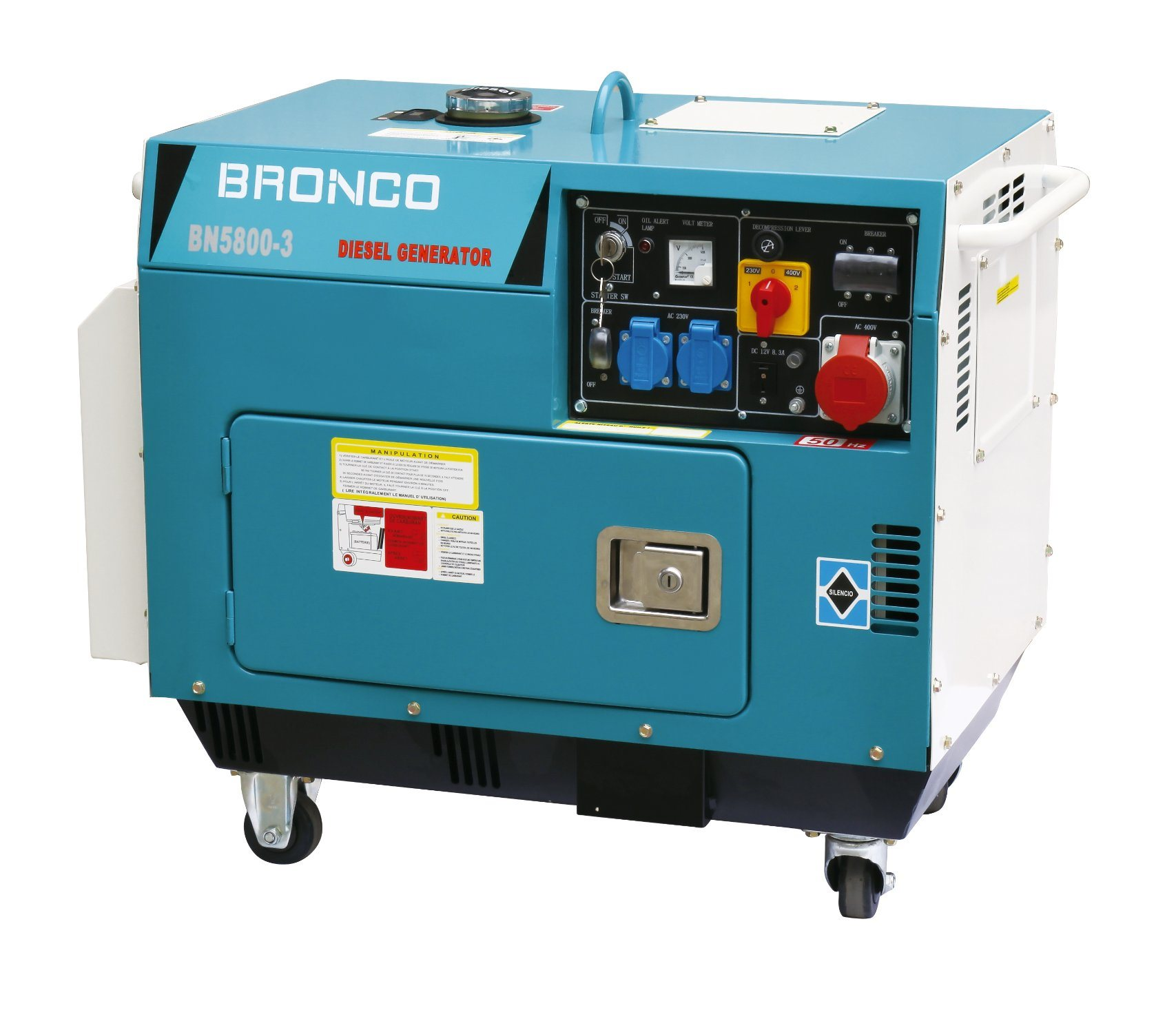 Silent Diesel Generator Bronco Zhejiang Electric Machinery