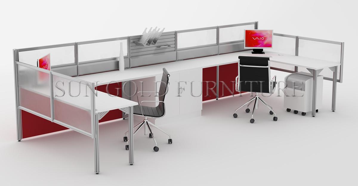 acrylic office desk. Popular Single Workstation Style Office Desk With Acrylic Partition (SZ-WS674)