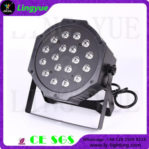 China RGB Flat Small DJ Stage Lights LED PAR 18X1w