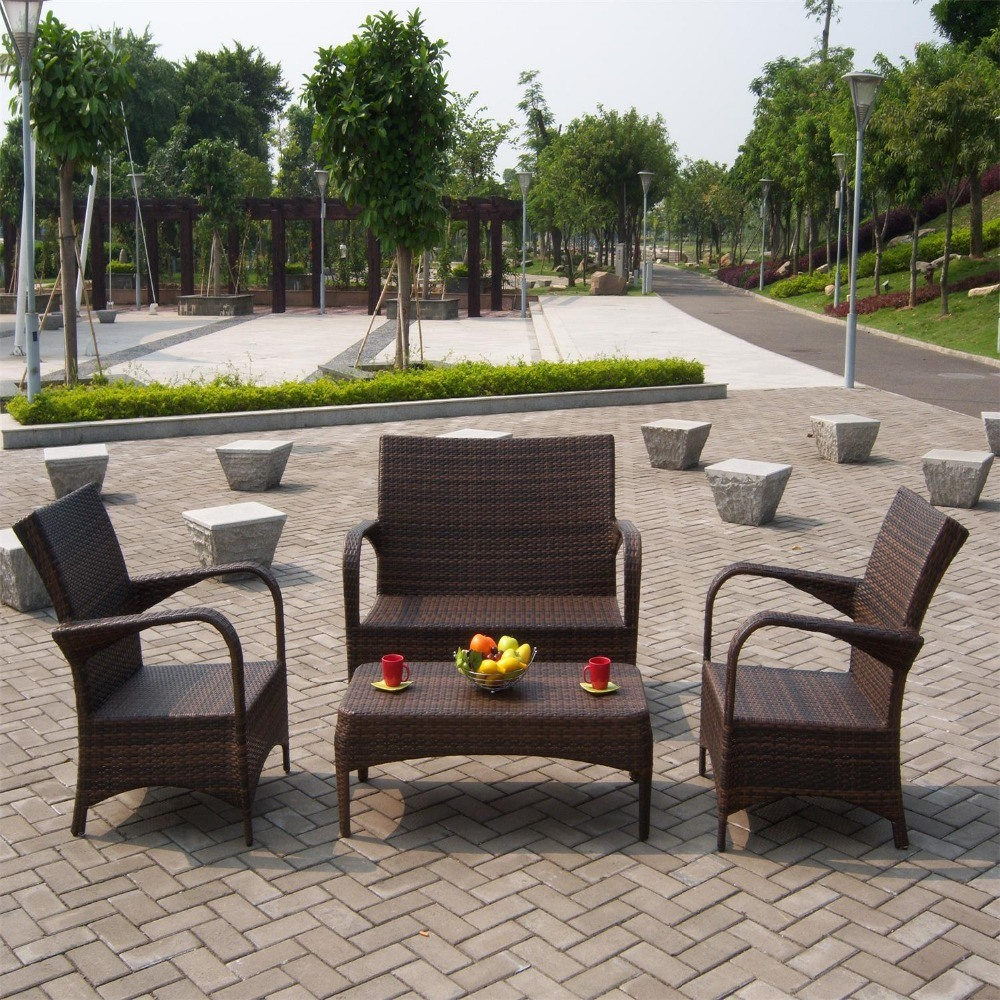 [Hot Item] Hot Sale Heavy Duty Aluminum Rattan Wicker Cane Outdoor Garden  Furniture