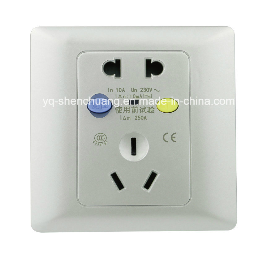 China Silver New Ground-Fault Circuit Breaker Outlet - China Fault ...