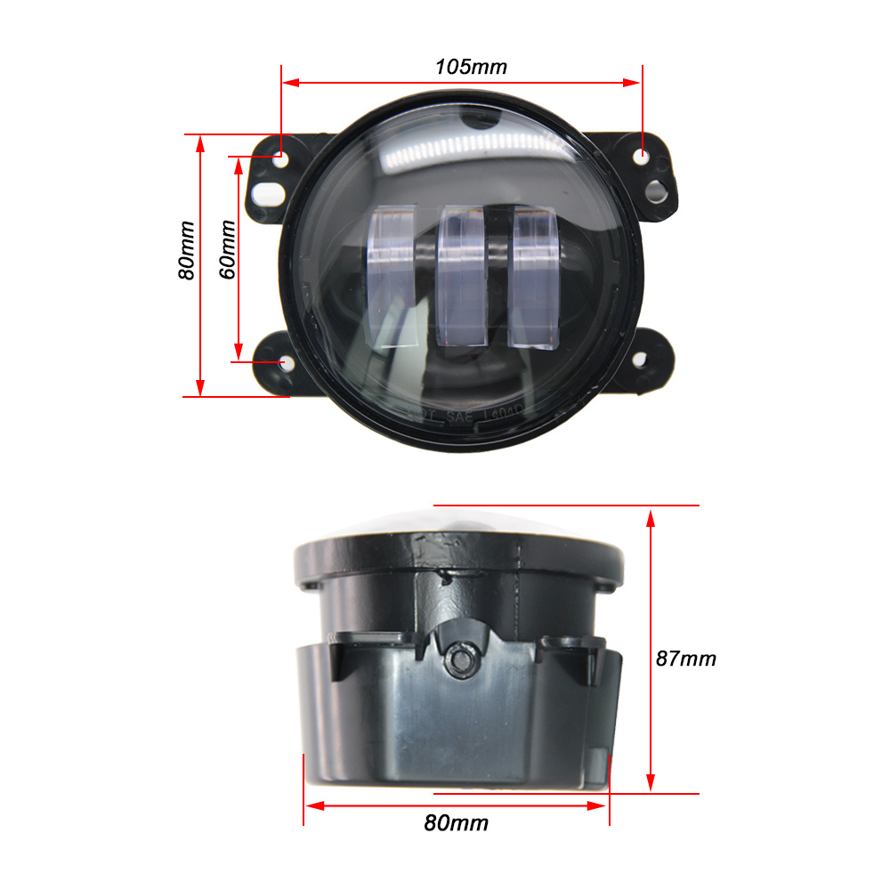 China Waterproof 4 Inch 30w Motorcycle Cree Round Replacement Led Jeep Wrangler Fog Lights For Renault Duster