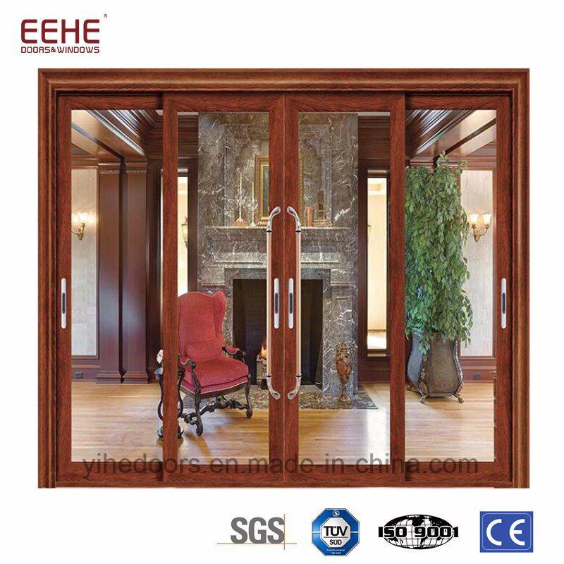 China Aluminum Door Price Glass Patio Door With Aluminium Strips