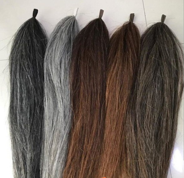 China 70cm Horse Hair Extensions Made By Real Horse Tail Hair