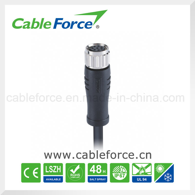 China M8 8pin Female Straight Waterproot Connector For Sensor With