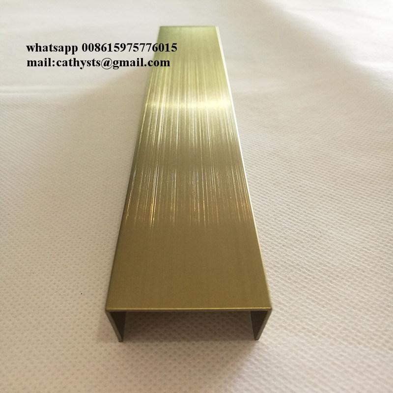 Charmant Stainless Steel U Shaped Groove Edge, Door Edging Strip, Backdrop Rose  Moldings