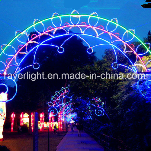 christmas illumination lighting holiday led arch cross street decorations
