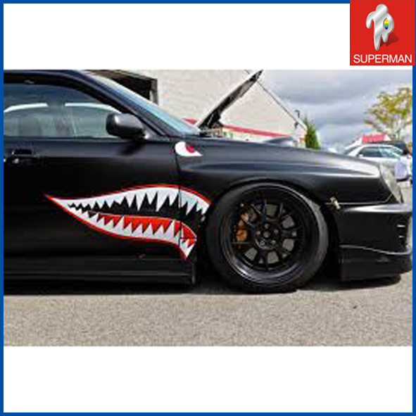 Hot Item Custom Shark Mouth Vehicle 3m Car Stickers Decals