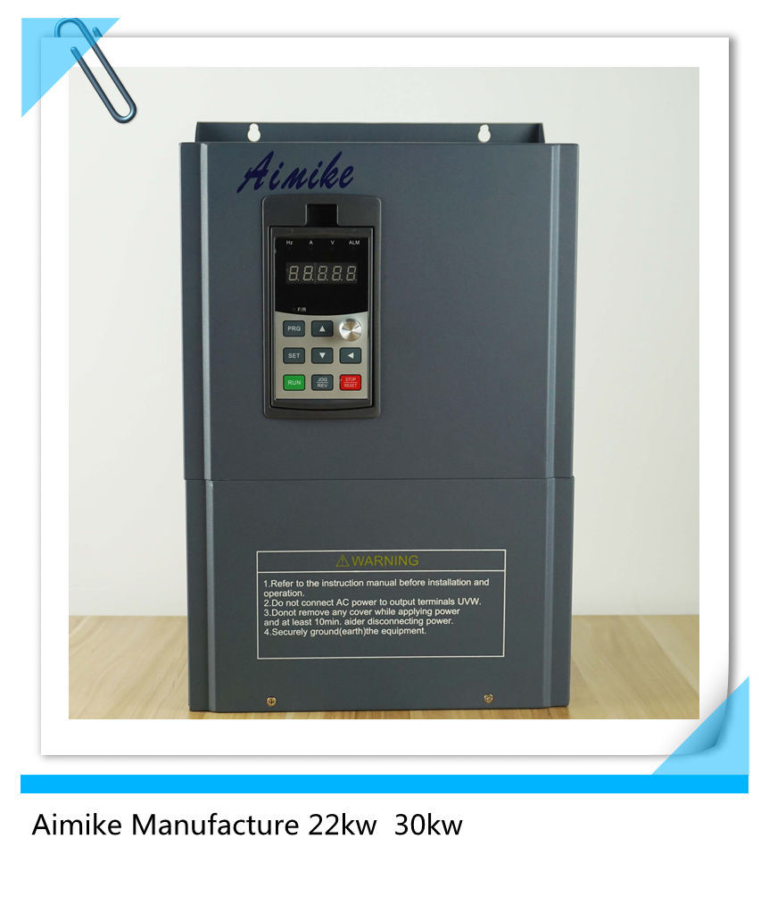 China 22kw AC Current AC Motor Speed Control VFD Drives Inverter ...