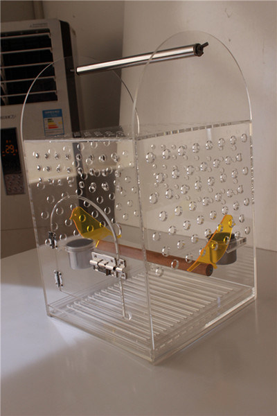 [Hot Item] Middle Size of Acrylic Bird Cage, Lucite Bird Nest, Plexiglass  Pet Cage
