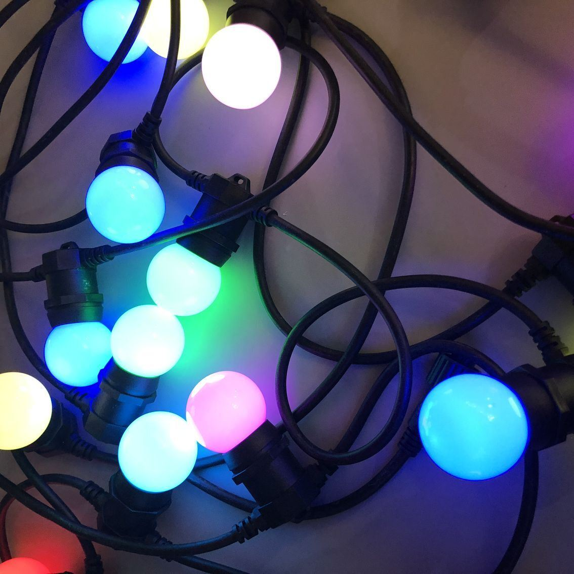 g50 outdoor globe led string lights festoon light