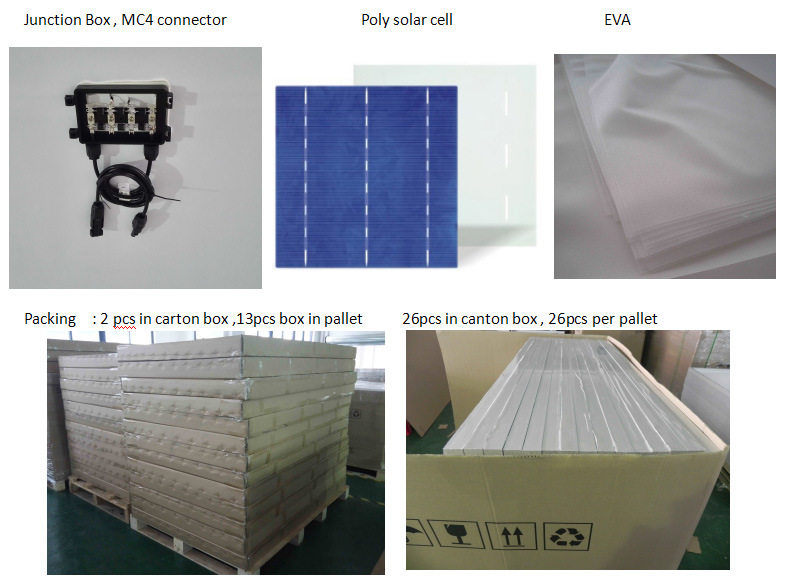 China Factory Poly PV Solar Cell Panel 200W for Home Equipment