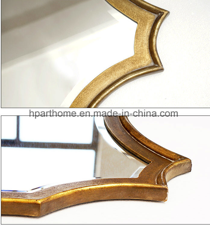 China Wholesale Wall Decor Metal And Mdf Framed Antique Gold Mirror