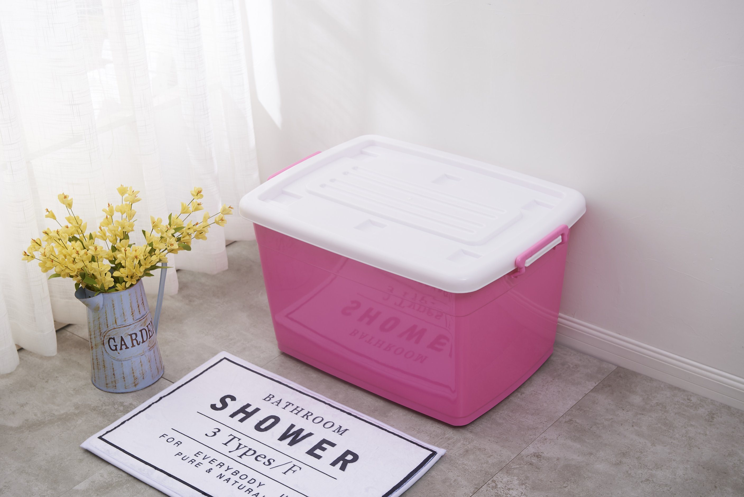 Home Large Size Storage Box With Cover And Wheels