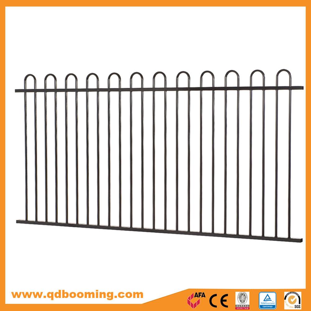 China Powder Coated Steel Loop Top Garden Fencing Photos & Pictures ...