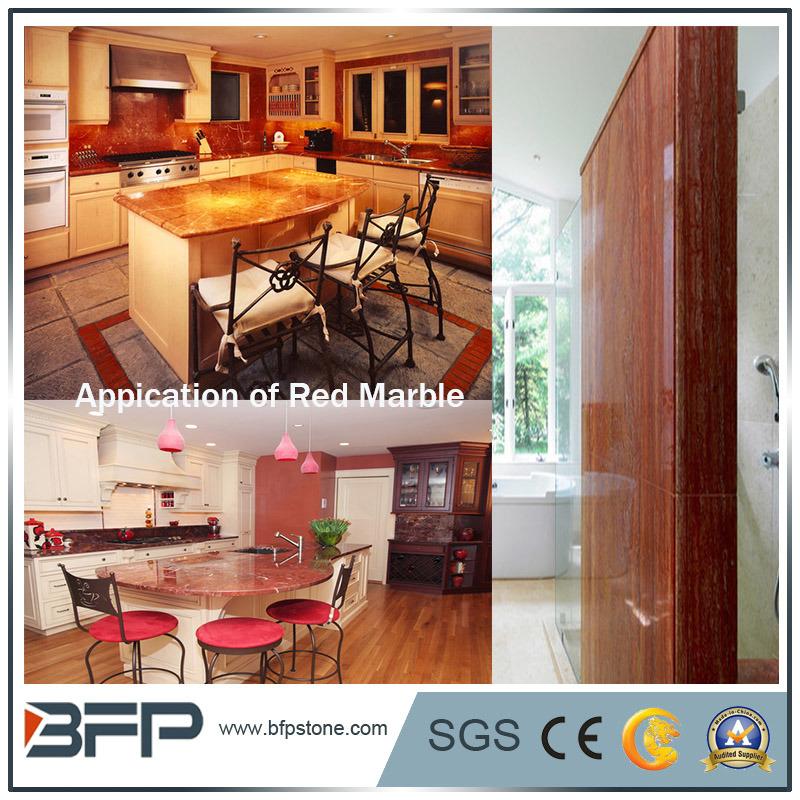 Elegant Building Materials Red Marble Slabs/Tiles/ Countertops