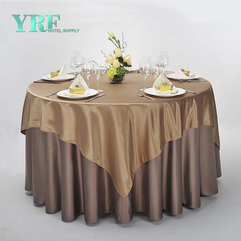 Custom 90 Round Polyester Table Cloth Decorative Covers For Banquet Or Wedding