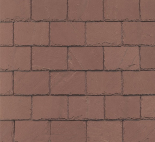 China Unfading Red Slate Roof Tiles