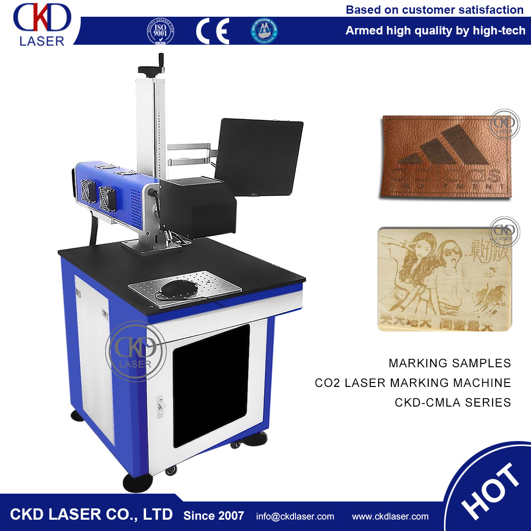 CO2 Laser Carving Marking Machine for Leather PU Wood pictures & photos