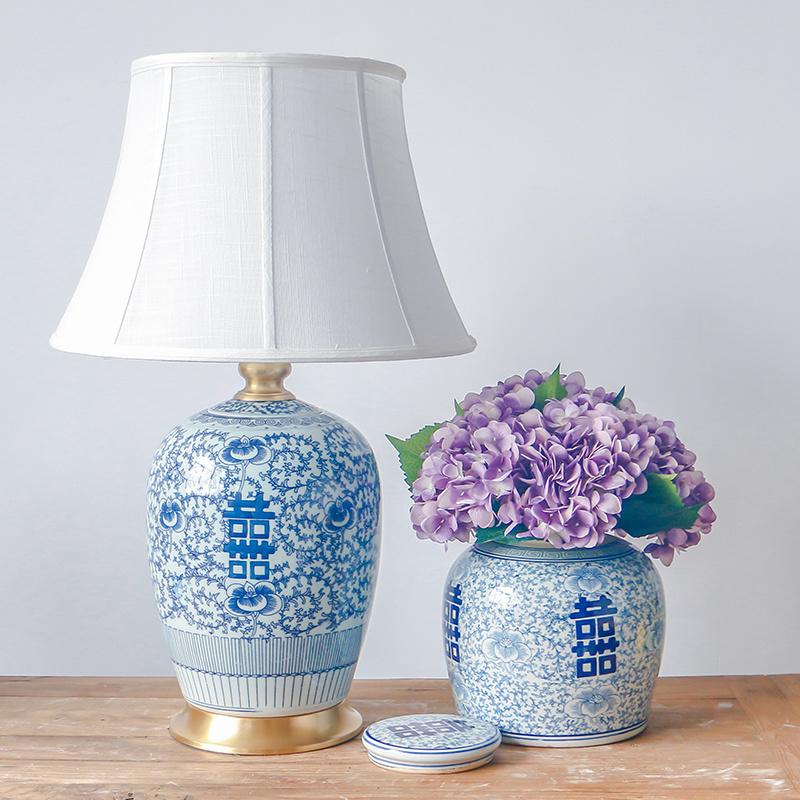Chinese Antique Porcelain Table Lamps, Porcelain Table Lamp