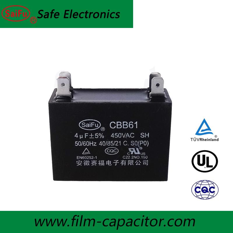 China Ac Motor Starting Capacitor Cbb61 Capacitor 4uf 450v China Cbb61 Capacitor Ac Motor Capacitor