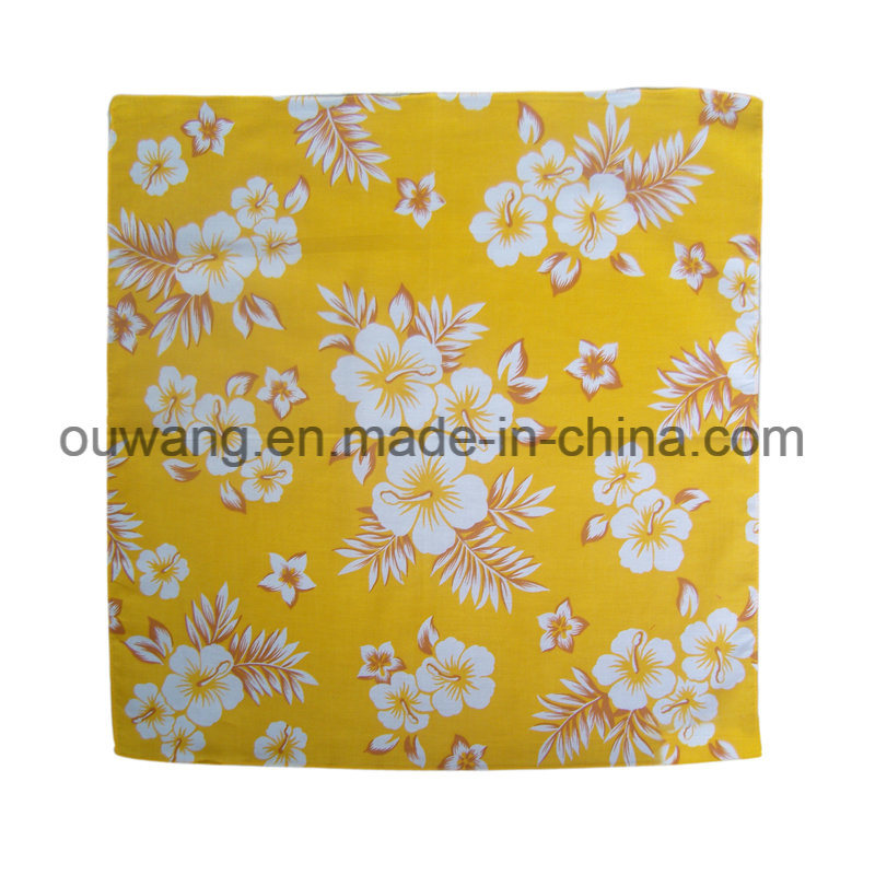 Wholesale Hip-Hop Magic Custom Cotton Flower Square Bandana pictures & photos